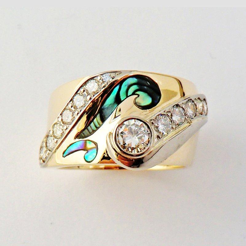 Paua and diamonds
