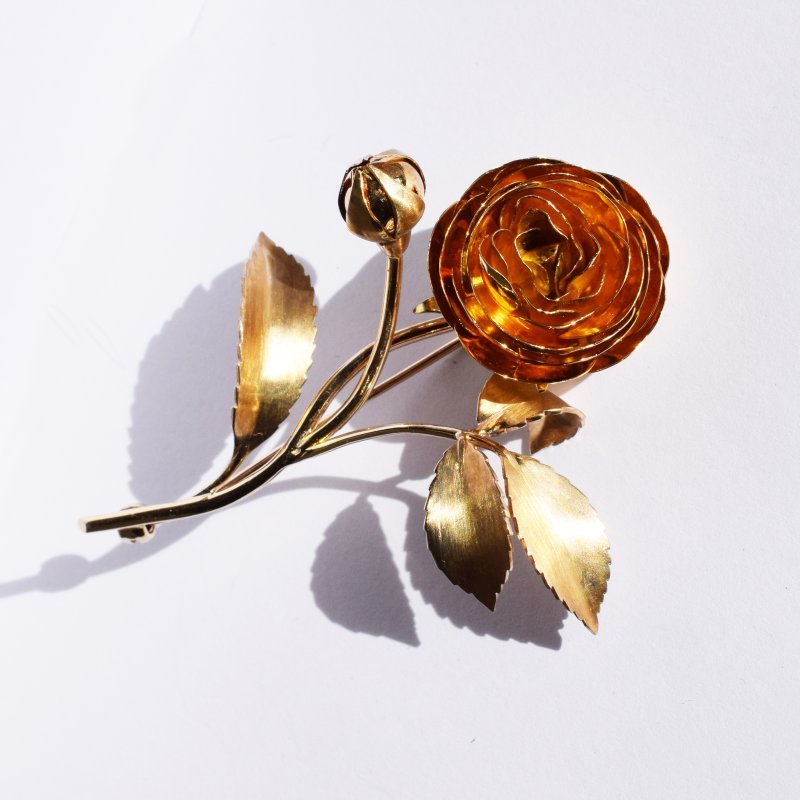 Solid Gold Rose